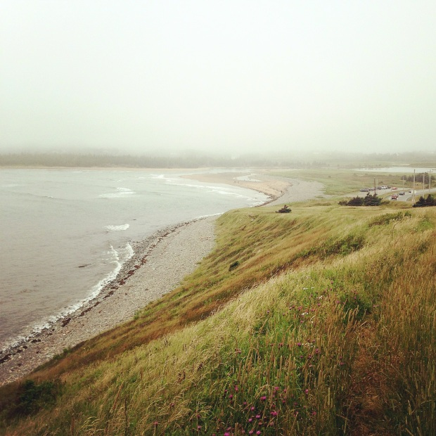 Heavily filtered view of Lawrence Beach, Nova Scotia